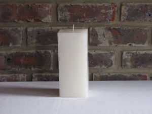 White Square Candle Image